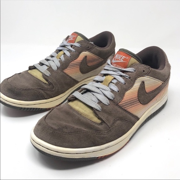 Nike Shoes - Nike Court Force Low Sneakers Orewood Brown Suede